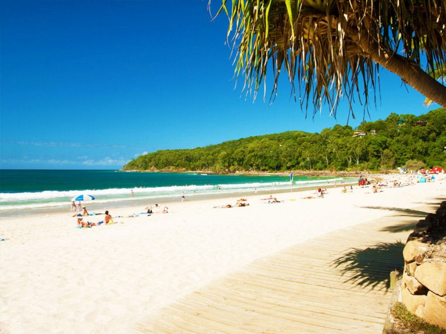 view of Noosa Beach